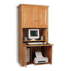 Picture of Cherry Computer Armoire