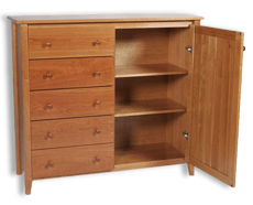 Picture of Shaker Post Cherry Wardrobe
