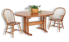 Picture of Three Leg Oval Trestle Table