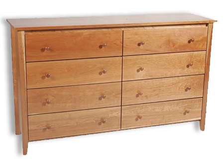 Picture of Shaker Post 8 Drawer Dresser