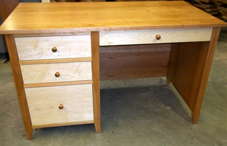 Picture of Custom Cherry and Maple Desk