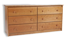 Picture of Shaker Cherry 6 Drawer Dresser