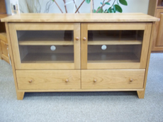 Picture of  Cherry Shaker TV Cabinet with storage drawers