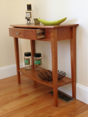 Picture of Custom Cherry Demi-lune table Bowed Front