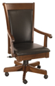 Picture of Leather  Desk Chair with arms