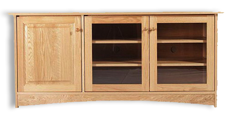 Picture of Oak  or Cherry Shaker Flat TV Cabinet