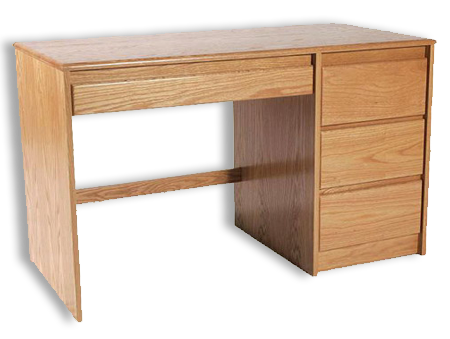 Picture of Oak Single Pedestal Desk