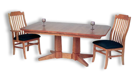 Picture of Peacham 2 Pedestal Table
