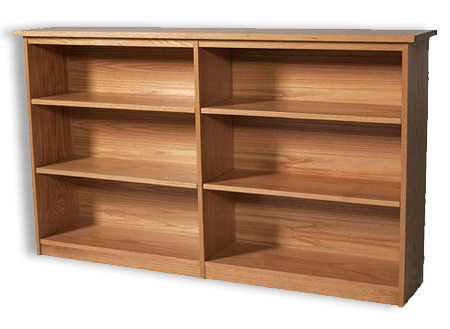 "Picture of Shaker Cherry  60"" Bookcase"