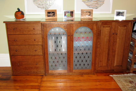 Picture of Custom Cabinet with Glass Doors