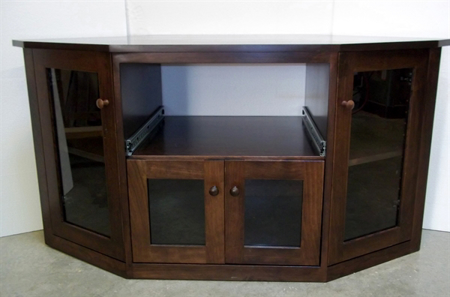 Picture of Custom Corner Media Cabinet