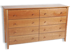 Picture of Shaker Post Eight Drawer Dresser (Shp9860) (Shown)