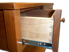 Picture of Custom Cherry Sideboard with Three Drawers Curved Top
