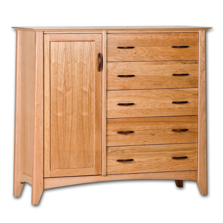 Picture of  Willow Cherry Gents Armoire