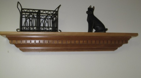 Picture of  Custom Solid Cherry floating Wall Shelf