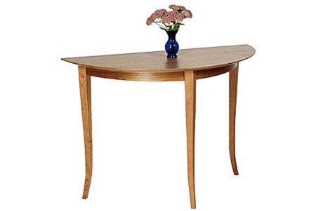 Picture of Custom Cherry Demi-lune table