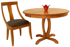 Picture of  Athens Round Solid top or extension Table