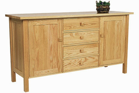 Picture of Oak Four Drawer Mission Buffet