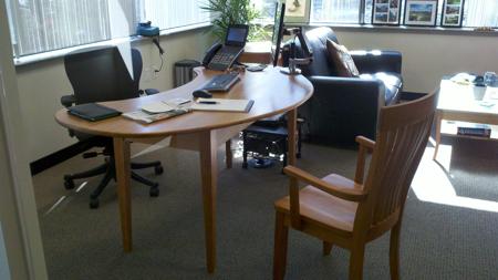 Picture of Custom Kidney Shaped Cherry  Desk