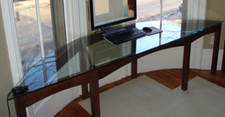 Picture of Arched Glass Top custom Desk
