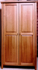 Picture of Shaker Post Cherry Armoire  with Full length doors