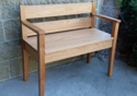 """Picture of Shaker Bench with Arms 42"""""""