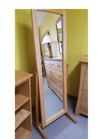 Picture of Cheval Swivel Mirror (Shown in Solid Cherry)