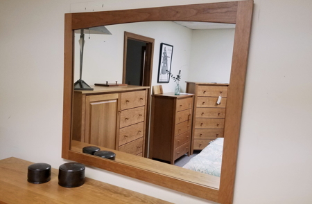 Picture of Shaker Mirror (Shown in Cherry)