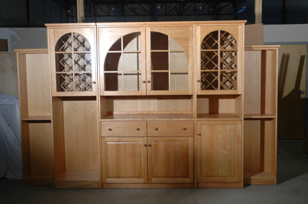 Picture of Arched Doors  Wine wall Cabinet