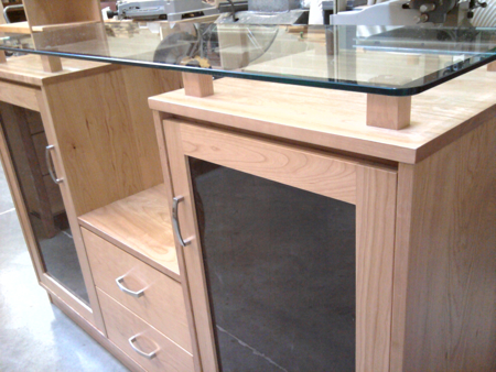 Picture of Glass  top  entertainment center