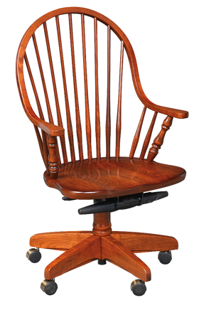 Picture of Continuous Arm Desk Chair with  round spindles