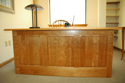 Picture of Cherry Executive Desk W/Flat Paneled Back