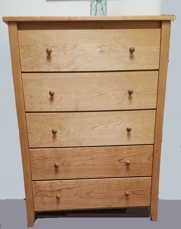 Picture of Shaker Post Five Drawer Chest (Shp9500)