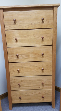 Picture of Shaker Post Six Drawer Sweater Chest (Shp9600-28)