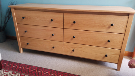 Picture of Shaker Post Six Drawer Dresser (SHP9660)