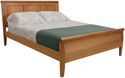 Picture of Carriage Raised panel Bed California King Size