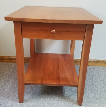 Picture of Cherry Shaker End Table w/Drawer and Shelf
