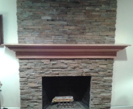 Picture of Fireplace Mantel Custom with double large crowning