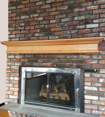 Picture of Fireplace Mantel Custom with  large crown