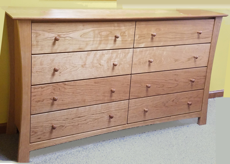 Picture of GB9860 Eight Draw Dresser (Shown in Natural Cherry)