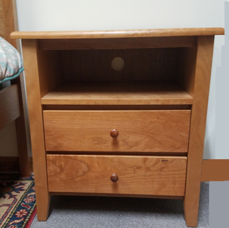 Picture of Shaker Large Night Stand w/Two Drawer and open shelf