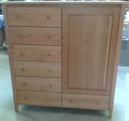 Picture of Shaker Post Cherry Armoire with Seven Drawers