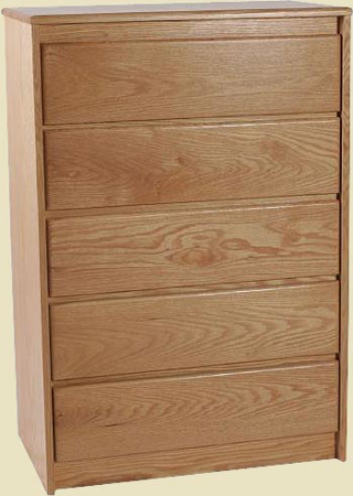 Picture of Contemporary Oak 5 Drawer Chest