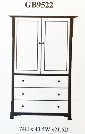 Picture of GB9522 Granby Tall Armoire