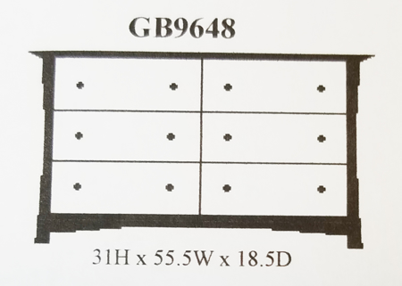 Picture of GB9648 Small Dresser