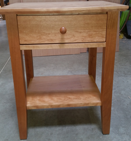 Picture of Shaker  Night Stand open sides w/one Drawer